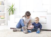 Risparmio della famiglia Fotografia Stock Libera da Diritti