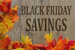Risparmio di acquisto di Black Friday Immagini Stock