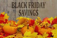 Risparmio di acquisto di Black Friday Fotografia Stock