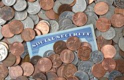 Risparmio di sicurezza sociale Fotografia Stock