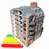 Risparmio energetico della costruzione illustrazione vettoriale