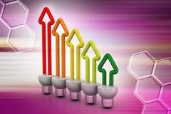 Risparmio energetico fluorescente Fotografia Stock Libera da Diritti