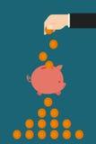 Risparmio nella Banca Piggy Fotografia Stock