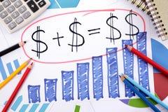 Risparmio o formula semplice di pensionamento Immagine Stock Libera da Diritti