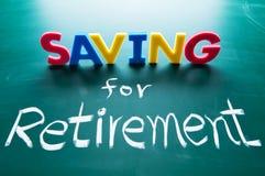 Risparmio per il concetto di pensione Immagini Stock Libere da Diritti