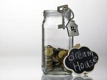 Risparmio per la casa immagine stock
