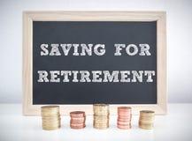 Risparmio per la pensione Fotografie Stock Libere da Diritti