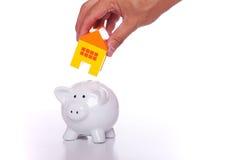 Risparmio per una nuova casa Immagini Stock