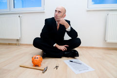 Risparmio per una nuova casa Immagine Stock Libera da Diritti