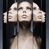 rispecchia la donna Immagine Stock Libera da Diritti
