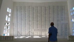 Rispetto al memoriale dell'Arizona Fotografie Stock Libere da Diritti