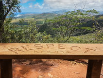 Rispetto ed il paesaggio dell'isola fotografia stock libera da diritti
