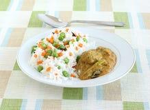 Rispilaff och curry Arkivfoto