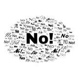 Risponda a no Illustrazione della nuvola di parola di tipografia Vettore isolato su bianco Fotografie Stock