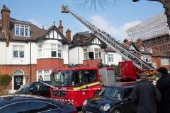 Risposta del fuoco a Londra, Regno Unito Immagini Stock