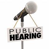 Risposte di opinione della parte di incontro informativo di audizione pubblica illustrazione vettoriale