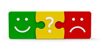 Risposte di puzzle di colore Fotografia Stock Libera da Diritti