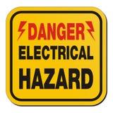 Risque électrique de danger - signe jaune illustration de vecteur