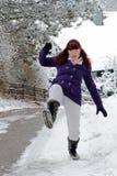 Risque d'accidents en hiver Images stock