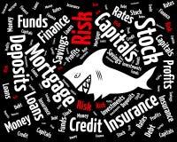 Risque dans le monde financier Image libre de droits