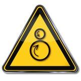Risque de captation de panneau d'avertissement illustration libre de droits