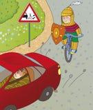 Risque de route Photo libre de droits