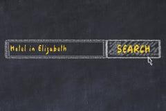 Risque o esbo?o do Search Engine Conceito de procurar e de registrar um hotel em Elizabeth ilustração royalty free