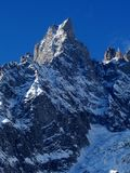Risquez Chamonix Mont Blanc Photo stock