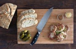 Rissóis da carne de porco Fotos de Stock