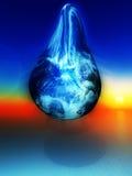 Riss der Erde Stockbild