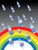 Risse auf dem Regenbogen stock abbildung