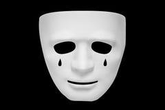 Risse auf der weißen Maske Stockbild
