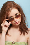 Rissol com os óculos de sol Fotos de Stock Royalty Free