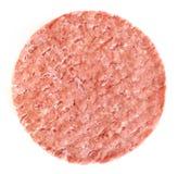 Rissol congelado do Hamburger Fotografia de Stock