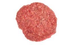 Rissol cru do Hamburger fotografia de stock royalty free