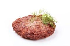 Rissol do Hamburger Fotografia de Stock Royalty Free