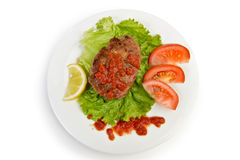 Rissole cutlet dinner Royalty Free Stock Photography