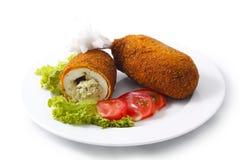 Rissole kiev. Chiken rissole isolated on white background Stock Photo