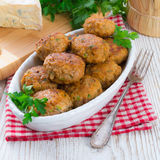 Rissole with mould cheese and parsley Royalty Free Stock Photo