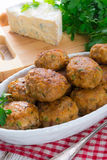 Rissole with mould cheese and parsley Stock Photography