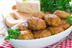 Rissole with mould cheese and parsley Royalty Free Stock Photography