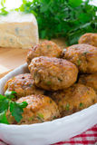 Rissole with mould cheese and parsley Stock Photo