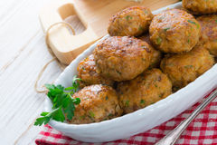Rissole with mould cheese and parsley Royalty Free Stock Photos