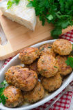 Rissole with mould cheese and parsley Royalty Free Stock Images