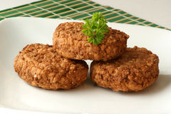 Rissole with parsley on a plate Royalty Free Stock Photos