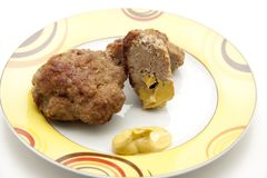 Rissole roasted with mustard Royalty Free Stock Photography