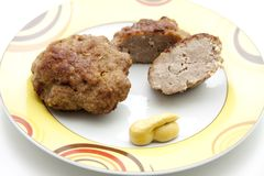 Rissole roasted with mustard Royalty Free Stock Images