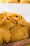 Rissole - Shrimp rissole served with chili sauce on the table. Royalty Free Stock Photography