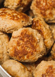 Плита котлеты rissoles мяса Стоковое Изображение RF
