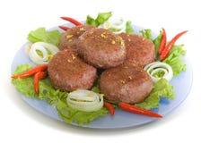 Rissoles da carne Imagem de Stock